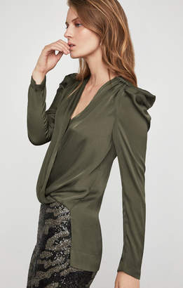 BCBGMAXAZRIA High-Low Wrap Top
