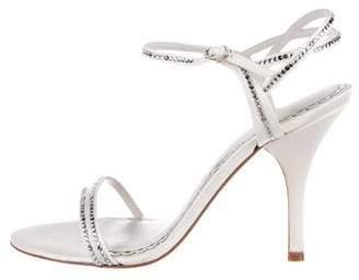 Jenny Packham Embellished Satin Sandals