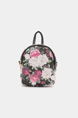 Ardene Floral Faux Leather Mini Backpack