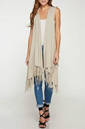 Love Stitch Lovestitch Fringe Vest