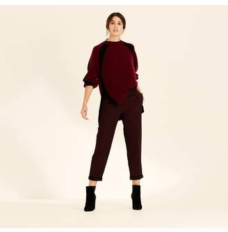 Amanda Wakeley Berry Black Crew Neck Oversized Cashmere Jumper
