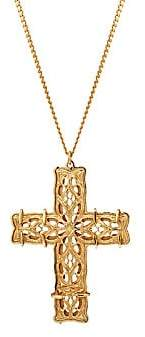 Emanuele Bicocchi Notre Dame 24K Yellow Goldplated Cross Pendant Necklace
