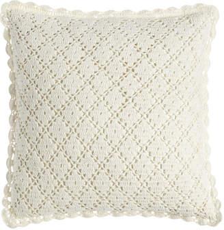 "Pine Cone Hill Lorient Crochet Pillow, 20""Sq."