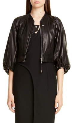 Yigal Azrouel Crop Lambskin Leather Jacket