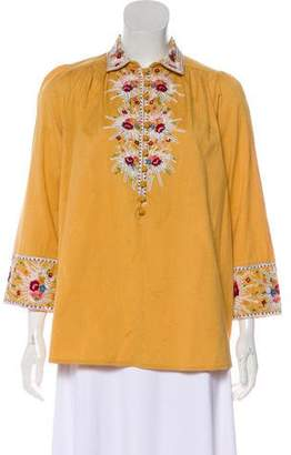 By Ti Mo byTiMo Embroidered Long Sleeve Top