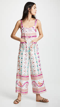 Juliet Dunn Cotton Tribal Jumpsuit