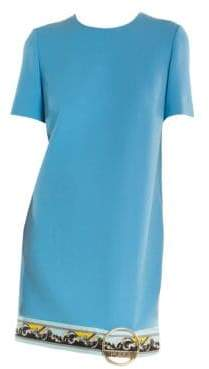 Emilio Pucci Buckle Hem Border Print Shift Dress