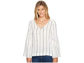 Sanctuary Lila Lace-Up Top Women's Long Sleeve Pullover