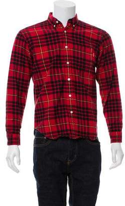Supreme Tartan Flannel Button-Up Shirt