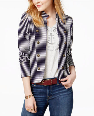 Tommy Hilfiger Striped Sailor Blazer, Only at Macy's $99.50 thestylecure.com