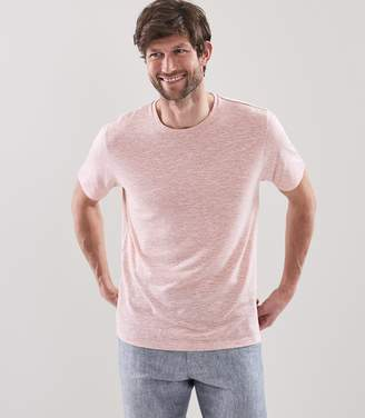 Reiss ORDER BY MIDNIGHT DEC 15TH FOR CHRISTMAS DELIVERY YOUNG LINEN BLEND T-SHIRT Soft Pink