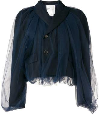 Comme des Garcons tulle paneled jacket