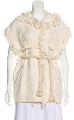 Isabel Marant Fringe-Accented Knit Cardigan