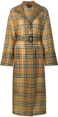 Burberry Vintage Check Soft-touch Plastic Single-breasted coat