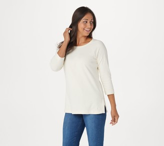 Isaac Mizrahi Live! Essentials Raglan Tee with 3/4 Sleeves