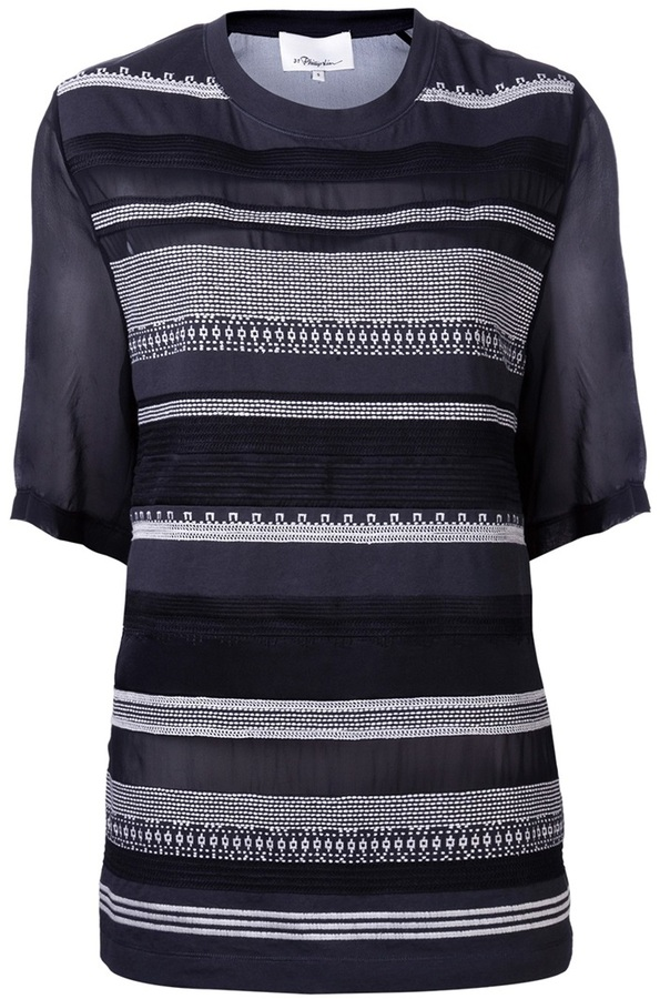 3.1 Phillip Lim embroidered striped top