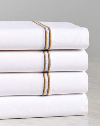Two Spoons Two Line Embroidery Stone Wash Sheet Set