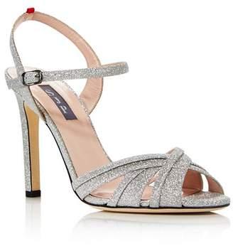 Sarah Jessica Parker Women's Cadence Glitter High-Heel Sandals