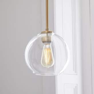 west elm Sculptural Glass Globe Pendant - Clear
