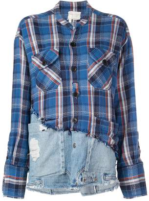 Greg Lauren deconstructed denim shirt