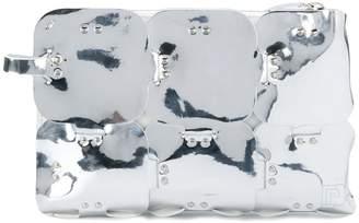 Paco Rabanne geometric clutch bag