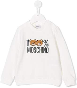 Moschino Kids 100% print sweatshirt