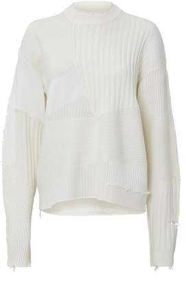 Helmut Lang Patchwork Oversized Sweater