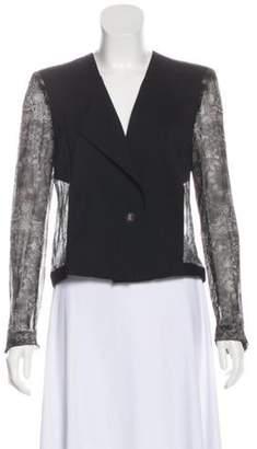 Helmut Lang Wool Structured Evening Jacket Black Wool Structured Evening Jacket