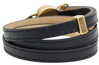 House Of Harlow Sunburst Leather Wrap Bracelet