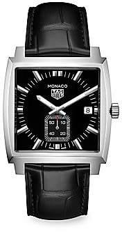 Tag Heuer Monaco 37MM Stainless Steel & Black Alligator Strap Quartz Watch