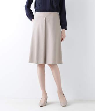 NEWYORKER women's 【ストレッチ】ウールシルクピンヘッド 4枚はぎフレアスカート