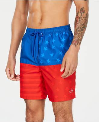"Calvin Klein Men Americana 7"" Swim Trunks"
