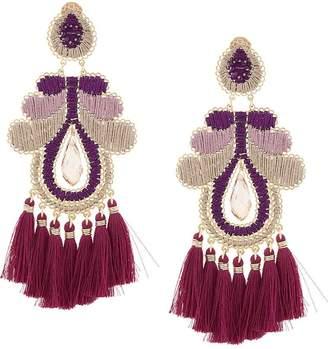 Mercedes Salazar Curubas fringe drop earrings