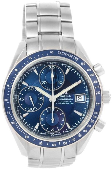Omega Omega Speedmaster 3212.80.00 Date Blue Dial Stainless Steel 40mm Watch