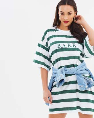 Missguided B.A.B.E Oversized T-Shirt Dress