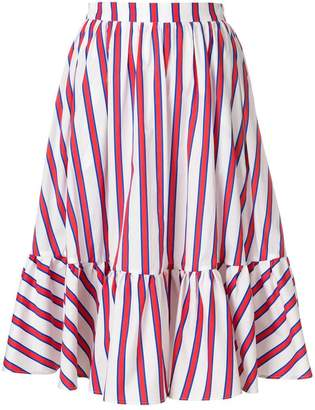 MSGM striped tiered skirt