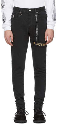 mastermind WORLD Black Selvedge Skinny Jeans