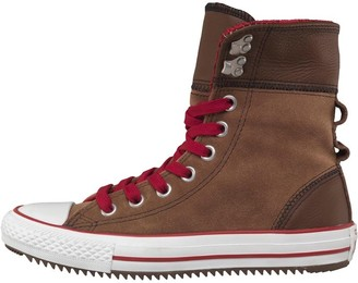Converse Womens CT All Star X-Hi Elsie Rolldown Trainers Pinecone/Red/Natural