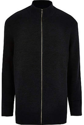 River Island Only and Sons Big and Tall navy cardigan