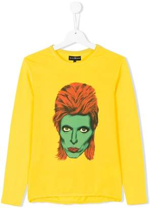 John Richmond Junior David Bowie print top