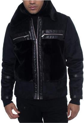 Sean John Men Fleece Trimmed Bomber Jacket