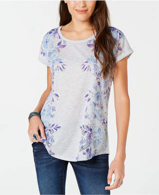 Style&Co. Style & Co Floral Print T-Shirt, Created for Macy's