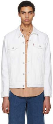 Levi's Levis White Denim Steel Hour Trucker Jacket