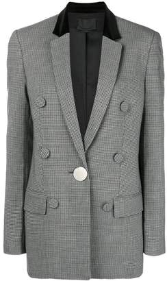 Alexander Wang plaid fitted blazer