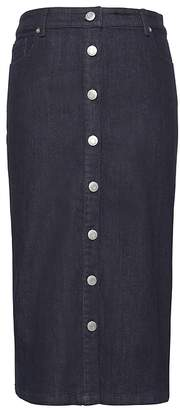 Banana Republic Petite Denim Button-Front Pencil Skirt
