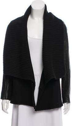 Givenchy Leather-Accented Wool Jacket
