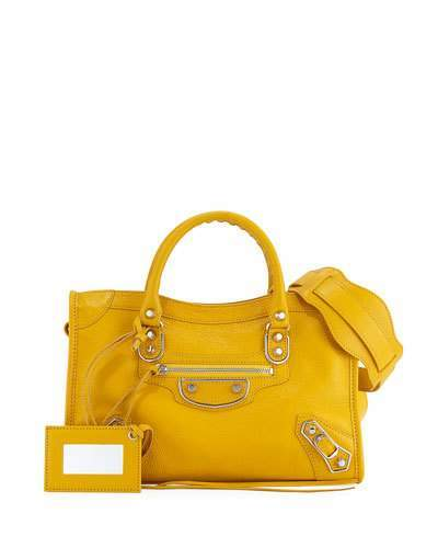 Balenciaga  Balenciaga Edge City Small Tote Bag, Yellow