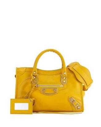 Balenciaga Edge City Small Tote Bag, Yellow $2,050 thestylecure.com