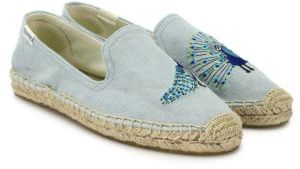 Soludos Peacock Embroidered Espadrilles $65 thestylecure.com