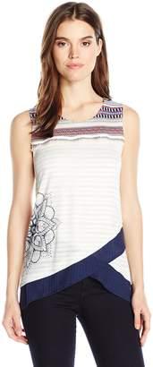 Desigual Women's Masiel Knitted Sleeveless T-Shirt, Navy, L